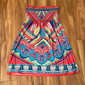 Flying Tomato Stretch Waist Multi Colored Skirt